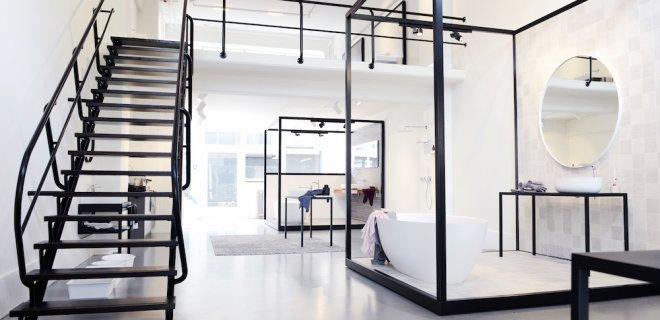 Dutch Design badkamercollectie Tortu in flagship store