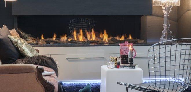 Extra breed vuur met de Triple Premium XXL inbouwhaard