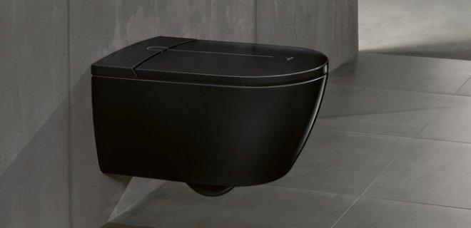 Stijlvol! Zwart toilet van Villeroy & Boch