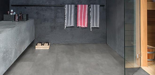Livyn badkamervloer met natuursteenlook