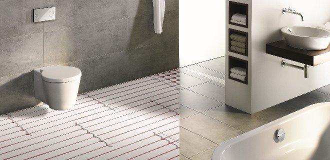 Vloerverwarming in de badkamer