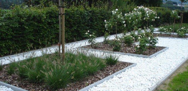 5 x voorbeelden van grind in de tuin