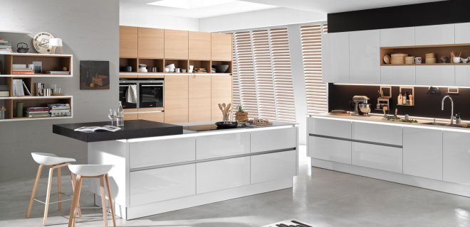 Voorbeelden Schiereiland Keuken : Keuken: Open half of gesloten keuken kiezen. Images about keuken on
