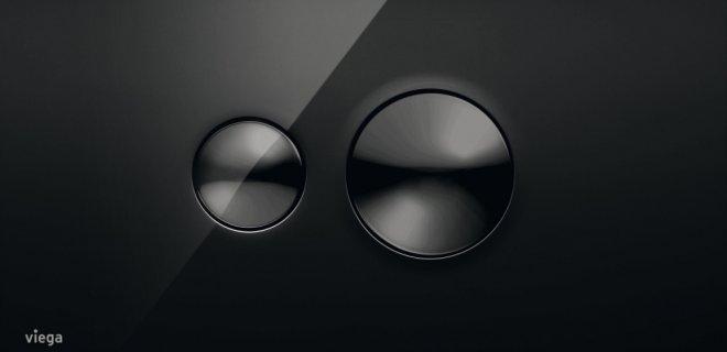 Nieuw! Zwarte design-bedieningsplaten voor de WC