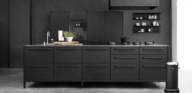 Zwarte siematic keuken zwarte keukens voorbeelden van keukenstijlen nieuws - Eiland zwarte bad ...