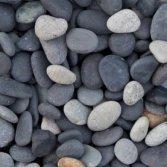 Zwart rond siergrind voor je tuin of terras: Beach Pebbles zwart