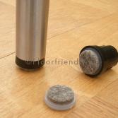 Floorfriendly ronde dop met vervangbaar vilt
