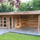 Poolhouse met luifeldak | a-tuinhuis