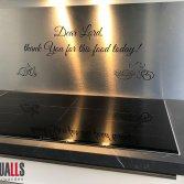 Aluminium keukenwand met print