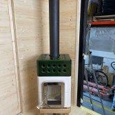 Mini Stack in wit met groene top | Art of Fire