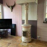 Keramische kachel met kolom | Art of Fire
