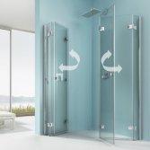 Douche met vouwdeuren
