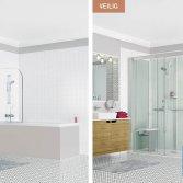 Baden+ snel genieten van uw nieuwe douche
