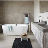 Badkamermeubel met betonnen wastafel