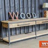 Badkamer meubel met houten top | Woodindustries
