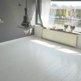 Wit afgewerkte eiken parketvloer