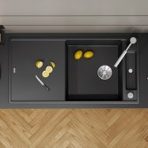 Zwarte spoeltafel | BLANCO