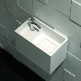 Burgmans Sanitair Puurwit Solid surface fontein