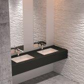 Wastafelblad in mat zwart | Burgmans Sanitair