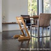 Blauwe steen tegels met vloerverwarming | Carrieres du Hainaut