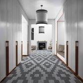 Tegelvloer met grafisch motief | Carrieres du Hainaut