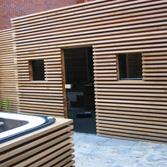 Cerdic luxe buiten Sauna
