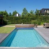 Zwembad met platte bodem