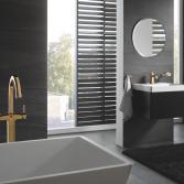 Complete badkamer in kleur met Grohe