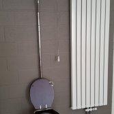 Complete toilet met zitting en hoog reservoir -40%