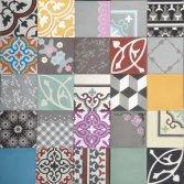 Designtegels Portugese cementtegel Patchwork feest