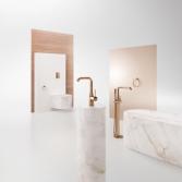 Een gekleurde mengkraan maakt je badkamer af