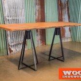 Eiken wagonhouten tafel | Woodindustries