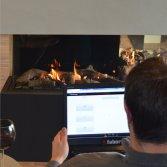 Faber App voor bediening gashaard