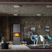 Moderne houtkachel van staal | Fero