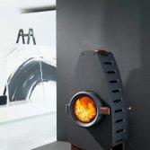 Houtbriket designkachel | Via Fero