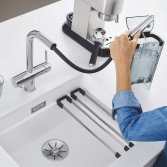 Filtermengkranen voor zuiver leidingwater