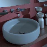 Badkamer sanitair met ronde vorm