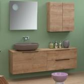 Modulair badkamermeubel hout