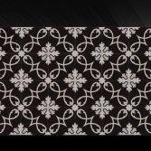 FLOORZ- Handgemaakte Cementtegels CURLZ BLACK