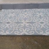 FLOORZ-Portugese cementtegels serie CURLZ OCEAN GREY