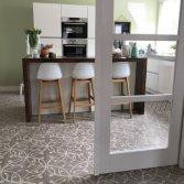 FLOORZ-Portugese cementtegels serie ORBIZ MG in een keuken