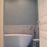 FLOORZ portugese vloertegels in de badkamer