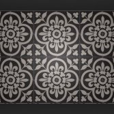 FLOORZ- Portugese vloerttegels FLOWERZ 12 BLACK