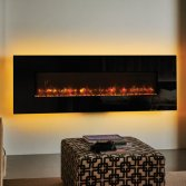 Gazco Radiance Elektrisch wandmodel met Chromalight