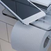 Toiletrolhouder met planchet | Geesa