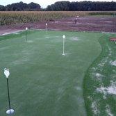 Golf putting green van kunstgras in de tuin