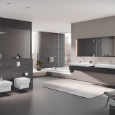 Badkamer met vierkante vormen