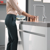 GROHE Essence Footcontrol keukenkraan