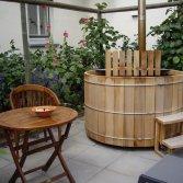 Finse Hottub in de tuin