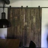 Industriële loftdeur wrakhout
